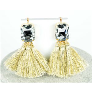 1p Boucles Oreilles Pendantes à clou 8cm New Collection Pompon 2019 76688