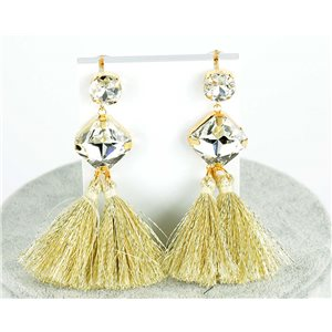 1p Boucles Oreilles Pendantes à clou 8cm New Collection Pompon 2019 76692