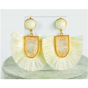 1p Earring Drop Earrings 7.5cm New Collection Pompon 2019 76700