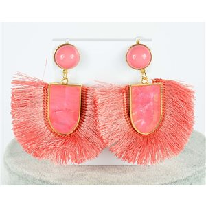 1p Boucles Oreilles Pendantes à clou 7.5cm New Collection Pompon 2019 76702