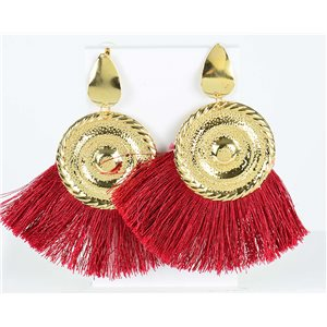 1p Drop Earrings with nail 10cm New Collection Pompon 2019 76708