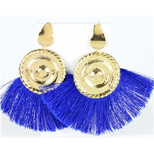1p Drop Earrings with nail 10cm New Collection Pompon 2019 76710