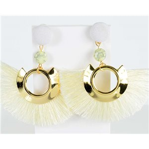 1p Boucles Oreilles Pendantes à clou 8cm New Collection Pompon 2019 76712