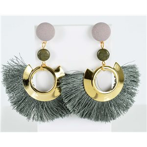 1p Boucles Oreilles Pendantes à clou 8cm New Collection Pompon 2019 76713