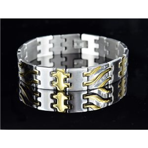 Bracelet in Stainless Steel Collection 2019 Gold & Silver 14mm 21.5cm 76411