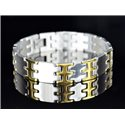 Bracelet bracelet in Stainless Steel Collection 2019 Gold & Silver 14mm 21cm 76641