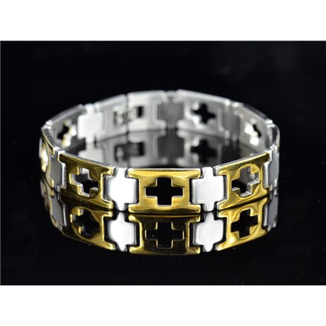 Bracelet in Stainless Steel Collection 2019 Gold & Silver 12mm 21.5cm 76408