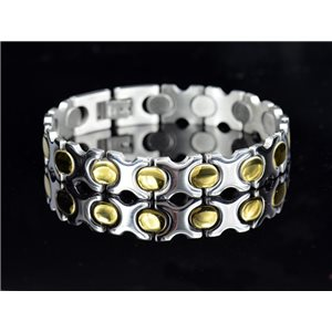 Bracelet in Stainless Steel Collection 2019 Gold & Silver 12mm 20.5cm 76412