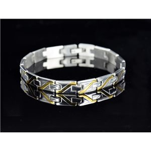 Bracelet in Stainless Steel Collection 2019 Gold & Silver 7mm 20.5cm 76413