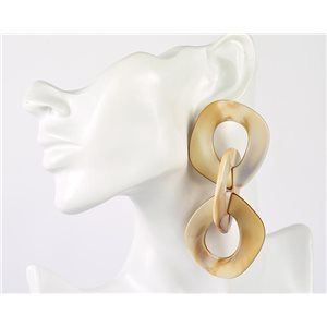 1p de Boucles Oreilles Pendantes à Clou 10cm en acrylique Fashion Colors 76954