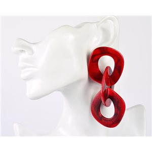 1p de Boucles Oreilles Pendantes à Clou 10cm en acrylique Fashion Colors 76955
