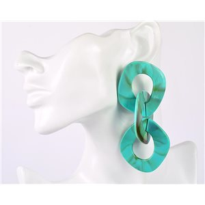 1p de Boucles Oreilles Pendantes à Clou 10cm en acrylique Fashion Colors 76956