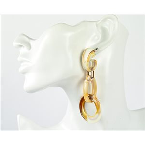 1p de Boucles Oreilles Pendantes à Clou 9cm en acrylique Fashion Colors 76998
