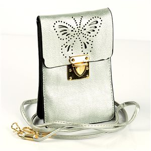 Women's Pouch Bag in PU Leather 11 * 17cm New Collection 77047