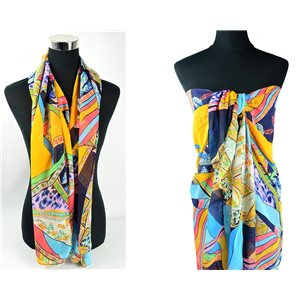 Scarf Pareo sail polyester 140cm-90cm New Summer Collection 77083