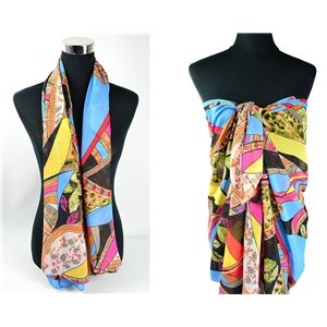 Scarf Pareo sail polyester 140cm-90cm New Summer Collection 77084