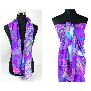 Foulard Paréo voile polyester 140cm-90cm New Collection Eté 77086