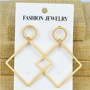 1p Earrings Nail 60mm metal color GOLD New Graphika 77401
