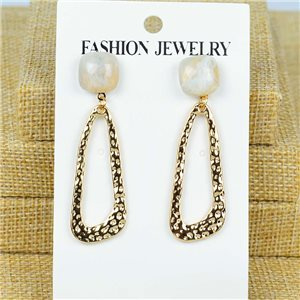 1p Earrings Nail 50mm metal color GOLD New Graphika 77367