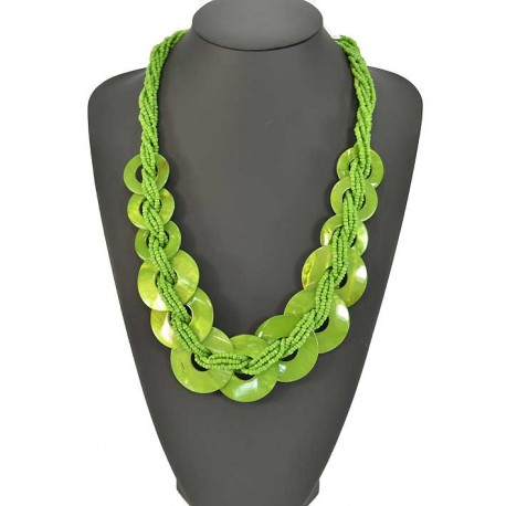 Long necklace beads and costume jewelery Pearl 57924