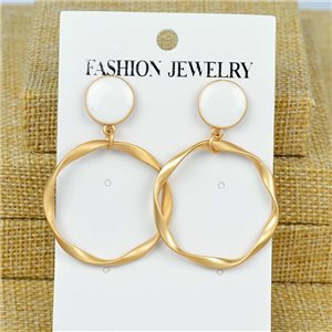 1p Earrings Nail 45mm metal color GOLD New Graphika 77389