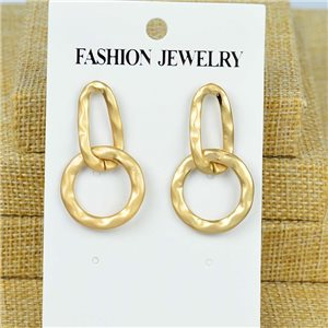 1p Earrings Nail 40mm metal color GOLD New Graphika 77383