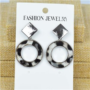 1p Earrings Nail 40mm metal color SILVER New Graphika 77412