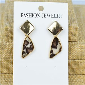 1p Earrings Nail 40mm metal color GOLD New Graphika 77417