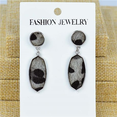 1p earrings with nail 40mm metal color SILVER New Graphika 77418