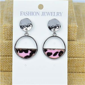 1p Earrings Nail 40mm metal color SILVER New Graphika 77424