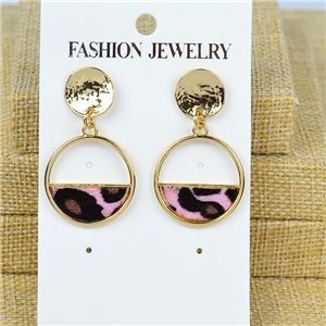 1p Earrings Nail 40mm metal color GOLD New Graphika 77425