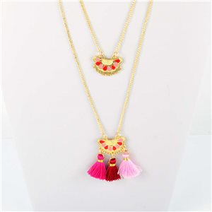 Adornment Pompom Collection 2019 Necklace Multirang chain necklace gold L48cm 76563