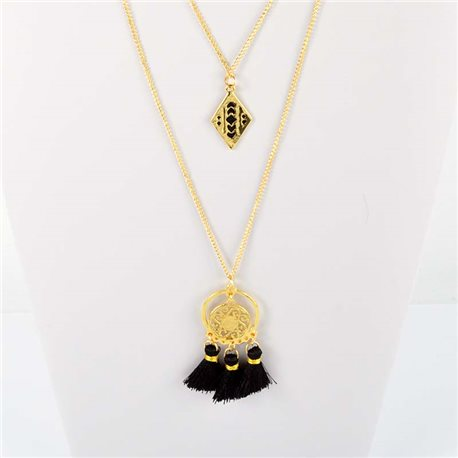 Adornment Pompom Collection 2019 Necklace Multirang chain necklace gold L48cm 76565