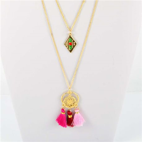 Adornment Pompom Collection 2019 Necklace Multirang chain necklace gold L48cm 76567