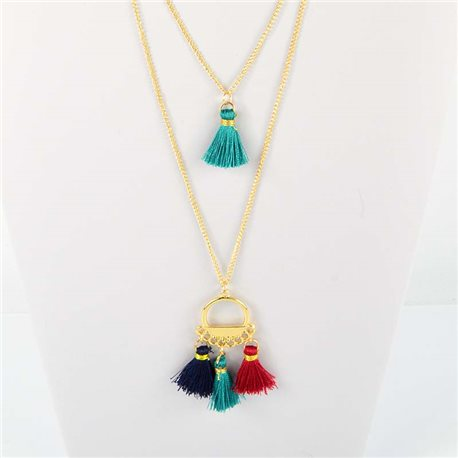 Adornment Pompom Collection 2019 Necklace Multirang chain necklace gold L48cm 76571