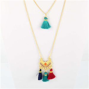 Adornment Pompom Collection 2019 Necklace Multirang chain necklace gold L48cm 76575