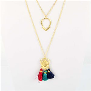 Adornment Pompom Collection 2019 Necklace Multirang chain necklace gold L48cm 76579