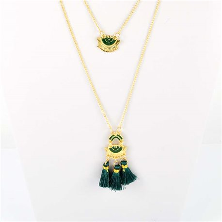 Adornment Pompom Collection 2019 Necklace Multirang chain necklace gold L48cm 76588