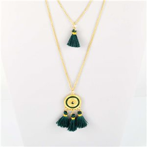 Adornment Pompom Collection 2019 Necklace Multirang chain necklace L48cm 76592