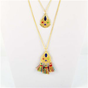 Adornment Collection Pompon 2019 Necklace Sautoir multirang golden chain L48cm 76596