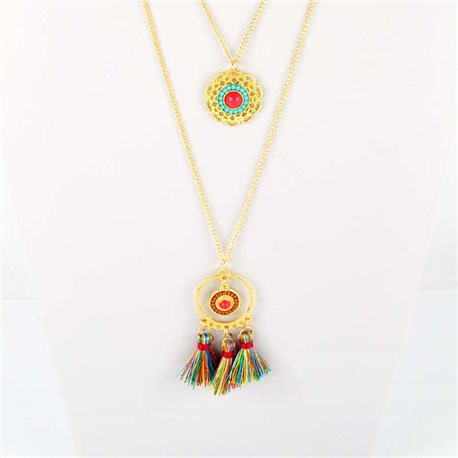 Adornment Pompom Collection 2019 Necklace Multirang chain necklace gold L48cm 76604