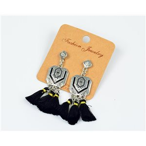 1pearn Earrings with Tassel and Rhinestone New Ethnic Collection 77609