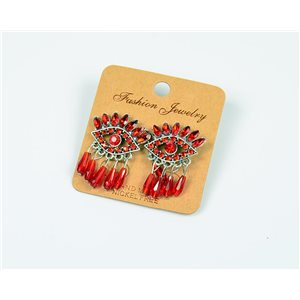 1p Boucles Oreilles à Clou Perles et Strass New Collection Ethnique 77594