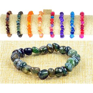 New Asymmetrical Agate Agate Beads Bracelet on elastic thread 77517