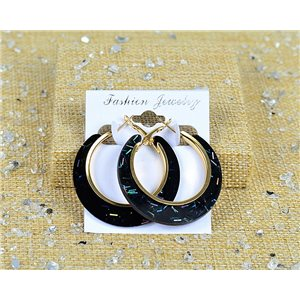 1p Earrings Spangled Hoops 45mm clamshell closure New Collection 77685