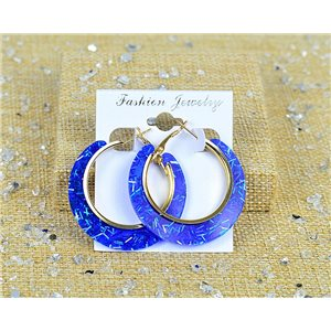 1p Earrings Spangled Hoops 45mm clamshell closure New Collection 77689