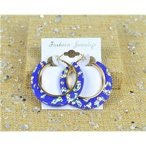1p Earrings Spangled Hoops 45mm clamshell New Collection 77706