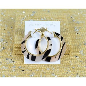 1p Earring Hoop Earrings 45mm Clamshell New Collection 77697