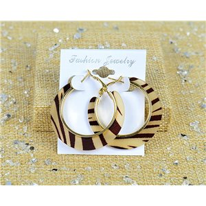 1p Earrings Hoop Earrings 45mm clamshell New Collection 77700