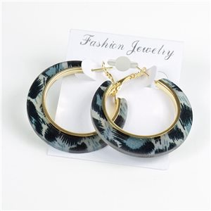 1p Panther Hoop Earrings 45mm flap closure New Collection 78191
